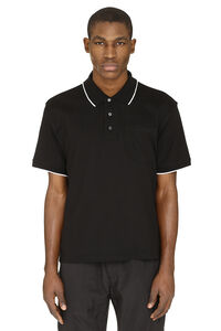 Logo embroidery cotton-piqué polo shirt, Short sleeve polo shirts Givenchy man