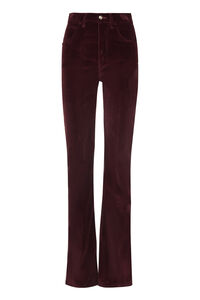 Corduroy flared trousers, Flared pants Etro woman
