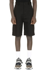 Cotton bkend multi-pocket bermuda shorts, Shorts MSGM man