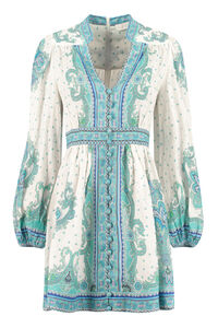 Printed linen dress, Printed dresses Zimmermann woman