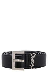 Leather belt, Belts Saint Laurent man
