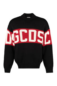 Long sleeve crew-neck sweater, Crew necks sweaters GCDS man