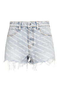 High-rise cut-off denim shorts, Denim Shorts Alexander Wang woman