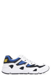 Leather and fabric low-top sneakers, Low Top Sneakers New Balance man