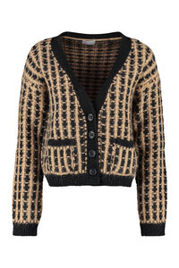 Cropped-length knitted cardigan, Cardigan Red Valentino woman