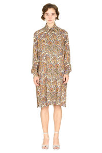 Printed wool-silk blend shirtdress, Printed dresses Etro woman