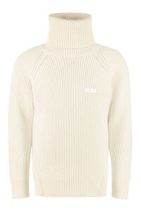 Ribbed turtleneck sweater, Turtleneck GCDS man