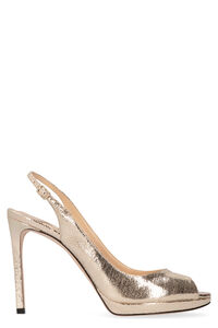 Nova 100 metallic leather sandals, High Heels sandals Jimmy Choo woman