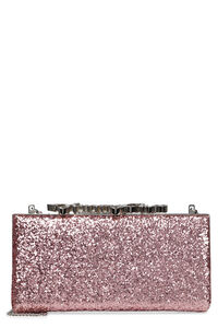Celeste/S glitter box clutch, Clutch Jimmy Choo woman