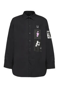 Raf Simons x Fred Perry - Patch details cotton shirt, Plain Shirts Fred Perry man