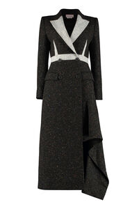 Wool blend double-breasted coat, Double Breasted Alexander McQueen woman