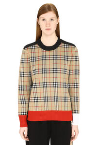 Vintage Check motif sweater, Crew neck sweaters Burberry woman