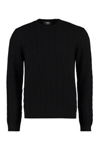 Long sleeve crew-neck sweater, Crew necks sweaters Fendi man