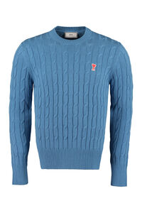 Long sleeve crew-neck sweater, Crew necks sweaters AMI man