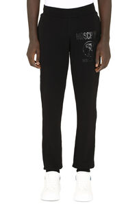Stretch cotton track-pants, Track Pants Moschino Couture man