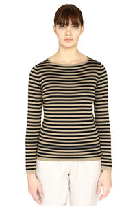 Knitted silk and cotton top, Crew neck sweaters Fabiana Filippi woman