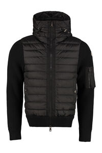 Cardigan con pannello frontale imbottito, Cardigan Moncler man