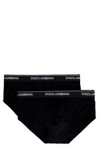 Set of two cotton Brando briefs with elastic band, Multipacks Dolce & Gabbana man