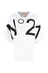 Cotton crew-neck T-shirt, T-shirts N°21 woman