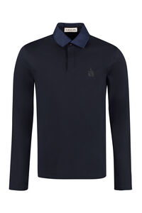 Cotton piqué polo shirt, Long sleeve polo shirts Lanvin man