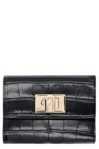 Furla 1927 croco-print leather wallet, Wallets Furla woman