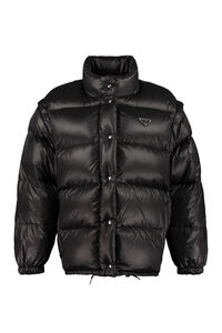 Full zip padded jacket, Down Jackets Prada woman