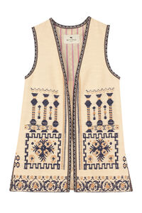 Jacquard cotton waist coat, Vests and Gilets Etro woman