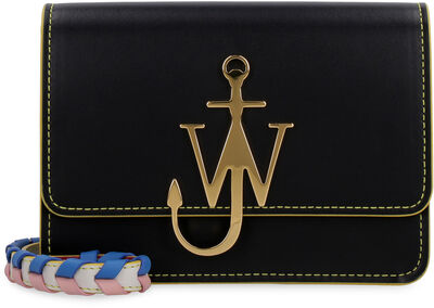 Anchor Logo leather crossbody bag