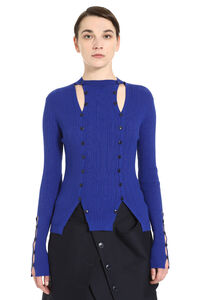 Ribbed pullover with buttons, Crew neck sweaters Jacquemus woman