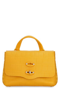 Postina Baby croco-print leather bag, Top handle Zanellato woman