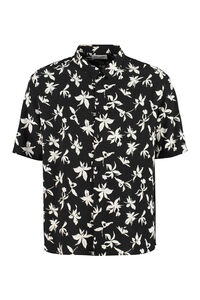 Printed silk shirt, Short sleeve Shirts Saint Laurent man