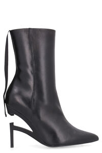Leather pointy-toe ankle-boots, Ankle Boots Unravel Project woman