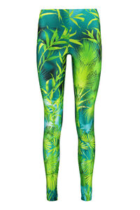 Technical fabric leggings, Leggings Versace woman