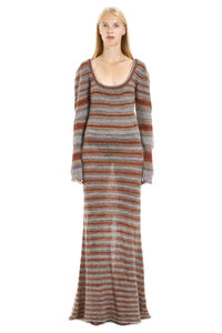Perou long knitted striped dress, Maxi dresses Jacquemus woman