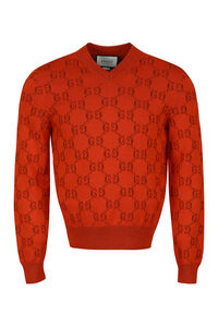 Cotton V-neck sweater, Crew necks sweaters Gucci man