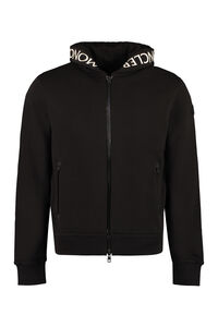 Full zip hoodie, Zip through Moncler man