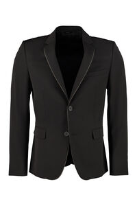 Wool slim fit blazer, Single breasted blazers Fendi man