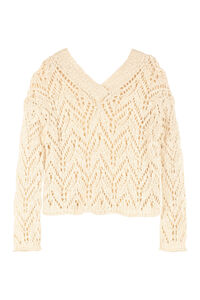 Openwork-knit pullover, V neck sweaters Forte Forte woman
