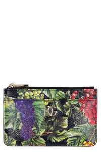 Printed leather card holder, Wallets Dolce & Gabbana woman