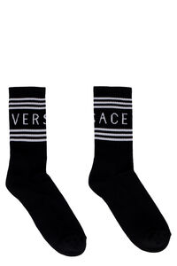 Cotton socks with logo, Socks Versace man
