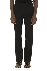 Virgin wool tailored trousers, Formal trousers Fendi man