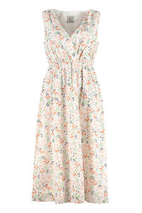Gathered printed dress, Printed dresses L'Autre Chose woman