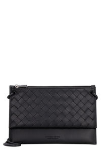 Leather messenger bag, Messenger bags Bottega Veneta man