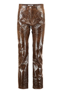 Vegan leather trousers, Leather pants MSGM woman