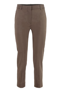 Calcut stretch cotton stovepipe trousers, Straight Leg pants Max Mara woman