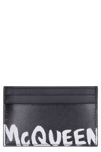 Leather card holder, Wallets Alexander McQueen man