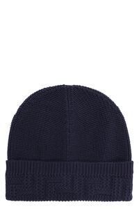 Ribbed knit beanie, Hats Versace man