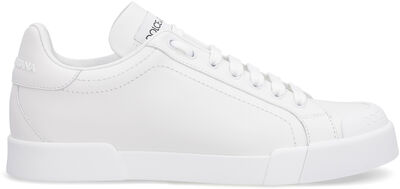 Leather low-top sneakers