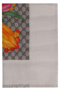 Printed wool and silk scarf, Scarves Gucci woman