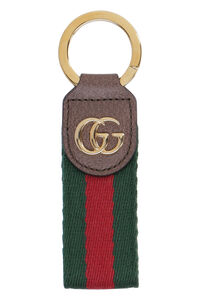 Ophidia Gucci Web and leather keyring, Keyrings Gucci woman
